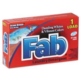 Fab Dispenser-Design HE Laundry Detergent Powder, Ocean Breeze, 1 oz. box (156 ct.)