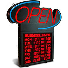 """Business Hours 20"""" OPEN Sign"""