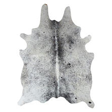 Decohides Real Cowhide Rug, Salt and Pepper Black and White