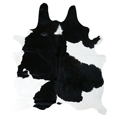 Decohides Real Cowhide Rug, Black and White