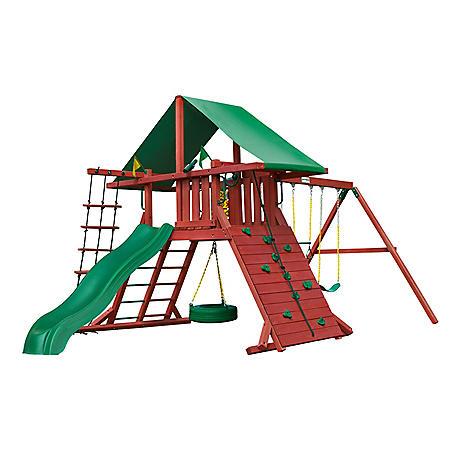 Gorilla Playsets Red Ranger Cedar Swing Set