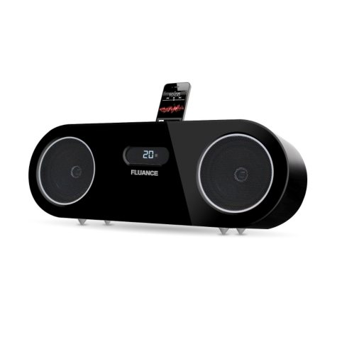 Fluance® Two-way High Performance Wood Speaker Dock Music System