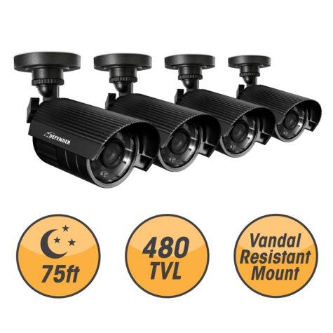 Defender 4 Hi-Res Outdoor Security Cameras