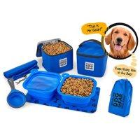 Mobile Dog Gear Dine Away 7-Piece Travel Set Bag (Choose Your Size)