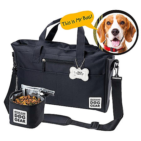 Mobile Dog Gear Day Away Tote with Lined Food Carrier (Choose Your Color)