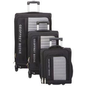 Geoffrey Beene 3 Piece Adventure Collection Luggage Set