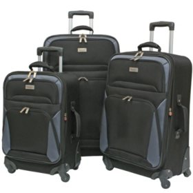 Geoffrey Beene Vertical Spinner Wheel Luggage Set - 3 pc.