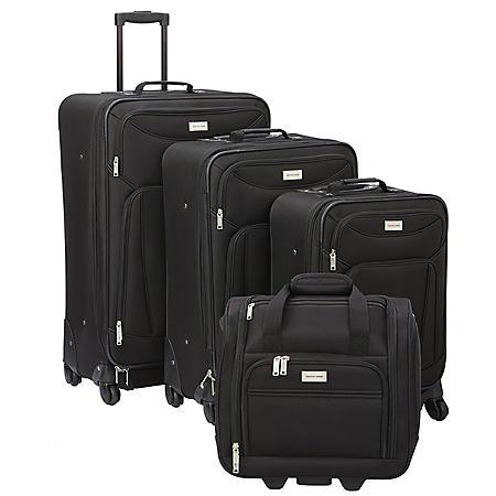 Geoffrey Beene 4 Piece Hempstead Collection Luggage Set