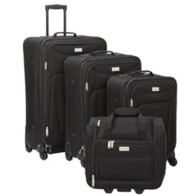 Geoffrey Beene 4 Piece Hempstead Collection Luggage Set