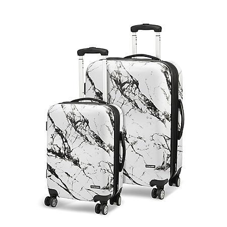 Geoffrey Beene 2-Piece Marble Hardside Luggage Set