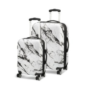 Geoffrey Beene 2-Piece Marble Hardside Luggage Set