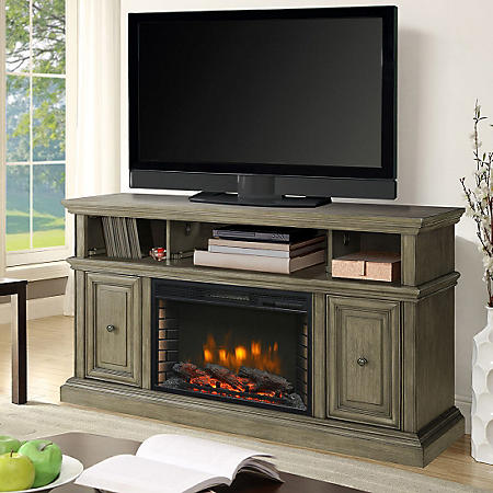 Terrific Muskoka Whitney Tv Stand Media Console With Electric Download Free Architecture Designs Scobabritishbridgeorg
