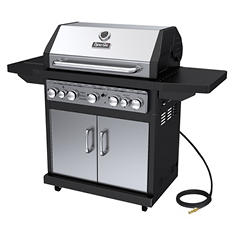 Dyna-Glo Premium 79,000 BTU 5-Burner Natural Gas Grill with Side Burner & Rotisserie Burner