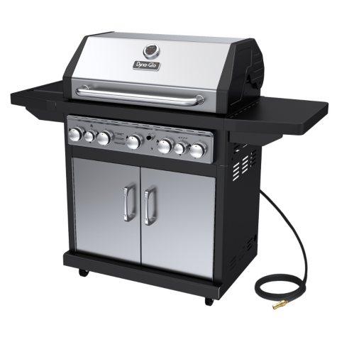 Dyna-Glo Premium 79,000 BTU 5-Burner Natural Gas Grill with Side Burner & Rotisserie Burner