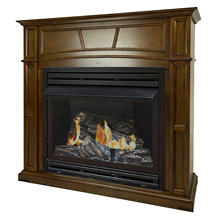 "Pleasant Hearth VFF-PH32DR-H 32,000 BTU 46"" Full-Size Heritage Vent-Free Fireplace System"