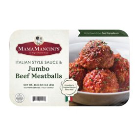 Mama Mancini's Jumbo Beef Meatballs in Italian Style Sauce (48 oz.)