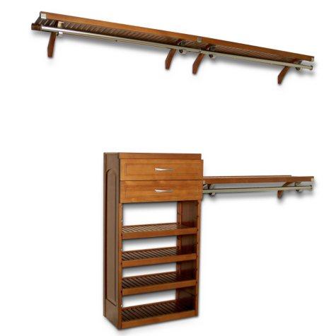 "12"" Depth Woodcrest Closet System - Caramel"