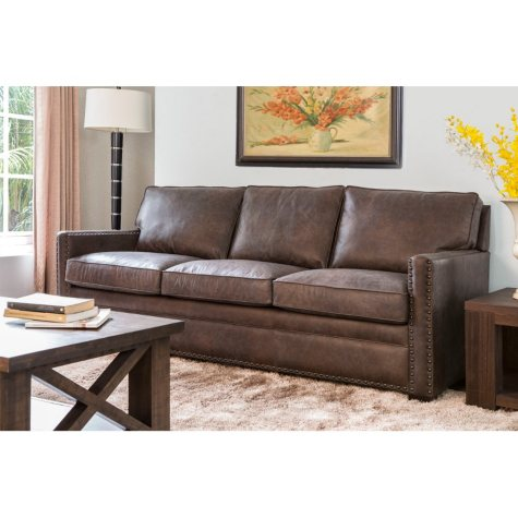Bruno Italian Leather Sofa