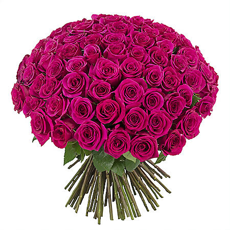 100 Stems Rose Bouquet, Vase Included