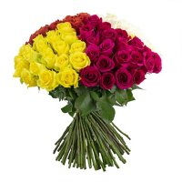 Rose Bouquet (Choose from 3 varieties; 100 stems, Vase Included)
