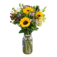 Country Living Floral Collection Mixed Bouquet in Vase (26 stems)