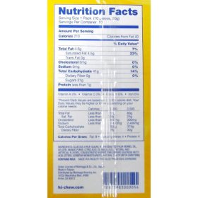 hi chew nutrition facts