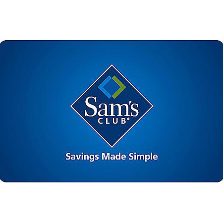 Sam's Club Gift Card - Various Amounts