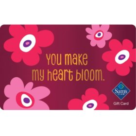 Sam's Club Heart Blooms Gift Card - Various Amounts
