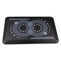 """Floortex AFS-TEX 2000 Anti-Fatigue Mat, Rectangle, 16"""" x 24"""", Midnight Black"""