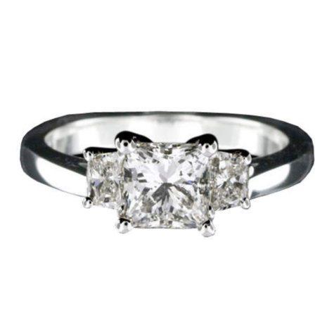 1.30 ct. t.w. Princess-Cut Diamond Ring (I, SI2)