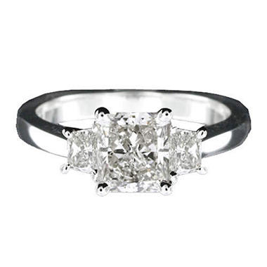 1.30 ct. t.w. Radiant-Trap. Diamond Ring (I, SI2)