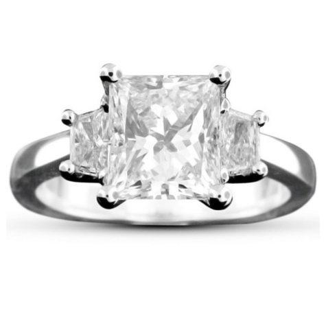 2.43 ct. t.w. Princess-Cut Diamond Ring (D, VS2)