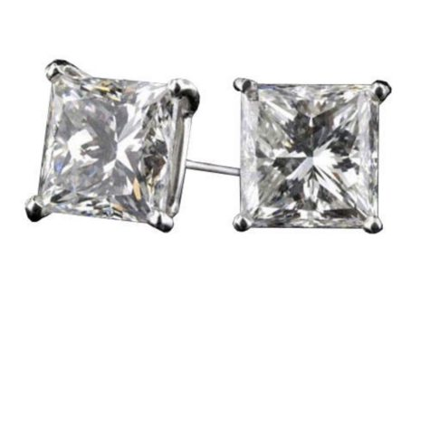 2.01 ct. t.w. Princess Dia. Earrings (F-G,IF-VVS2)