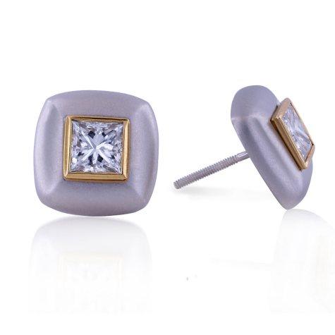 2.03 ct. t.w.  Diamond Earrings (G, VS1-2)