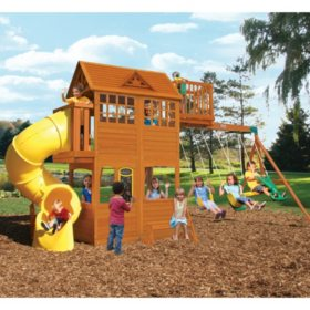 KidKraft Abbeydale Clubhouse with Twist N' Ride Tube Slide
