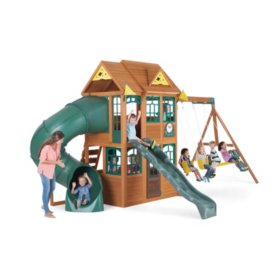 Charleston Lodge Wooden Swing Set
