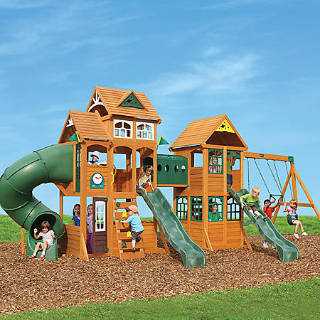 $500 discount on a backyard wooden playset