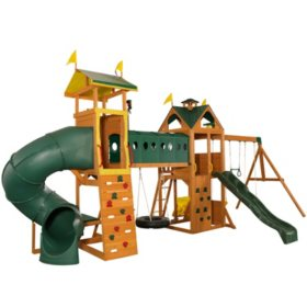 KidKraft Mockingbird View Swing Set & Activity Center