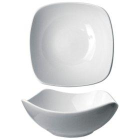 "Quad 8 1/2"" 46 oz. Porcelain Square Bowl - 12 pk."
