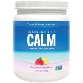 Natural Vitality Calm, The Anti-Stress Dietary Supplement Powder, Raspberry Lemon (20 oz.)