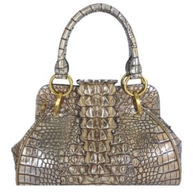 Isabella Adams Croco Tail Satchel Bag