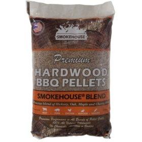 Premium Hardwood BBQ Pellets, Smokehouse Blend - 40 lbs.