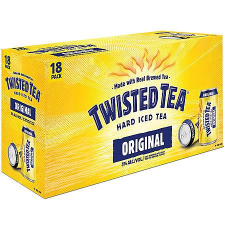 Twisted Tea Hard Iced Tea (12 fl. oz. can, 18 pk.)