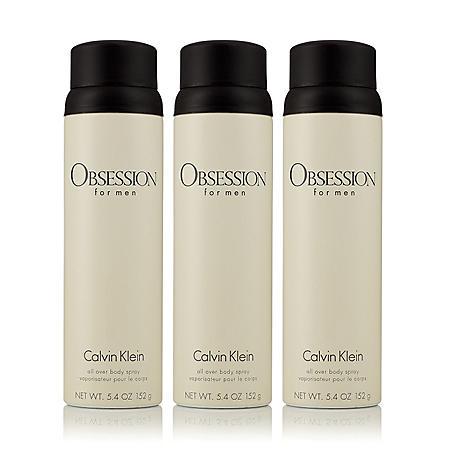 Obsession for Men 3 Pack Body Spray (5.4 oz., 3 pk.)