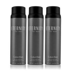 Eternity for Men 3 Pack Body Spray (5.4 oz., 3 pk.)