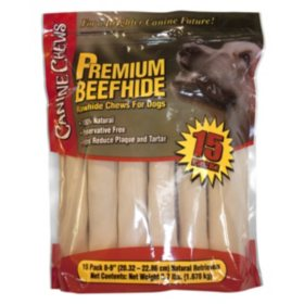 Canine Chews Premium All-Natural Beef Hide Canine Retrievers (15 ct.)