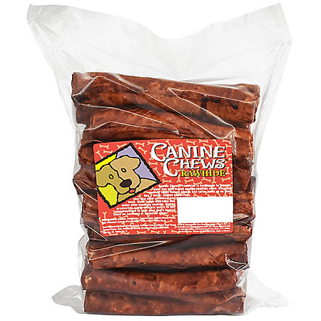 """Canine Chews 8"""" Basted Rawhide Retrievers for Dogs - 25 ct. (Choose Your Flavor)"""