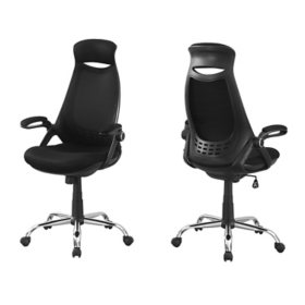 Office Chair - Chrome High-Back Executive, Assorted Colors