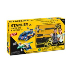 Stanley, Jr. 2 Wood Kits & 5-Piece Tool Set