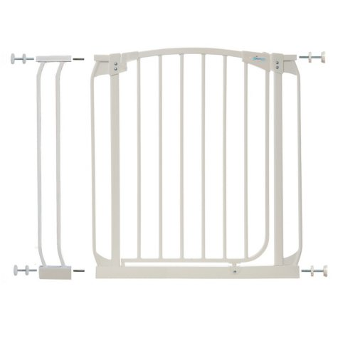 Dreambaby Chelsea Auto Close Security Gate Combo, White